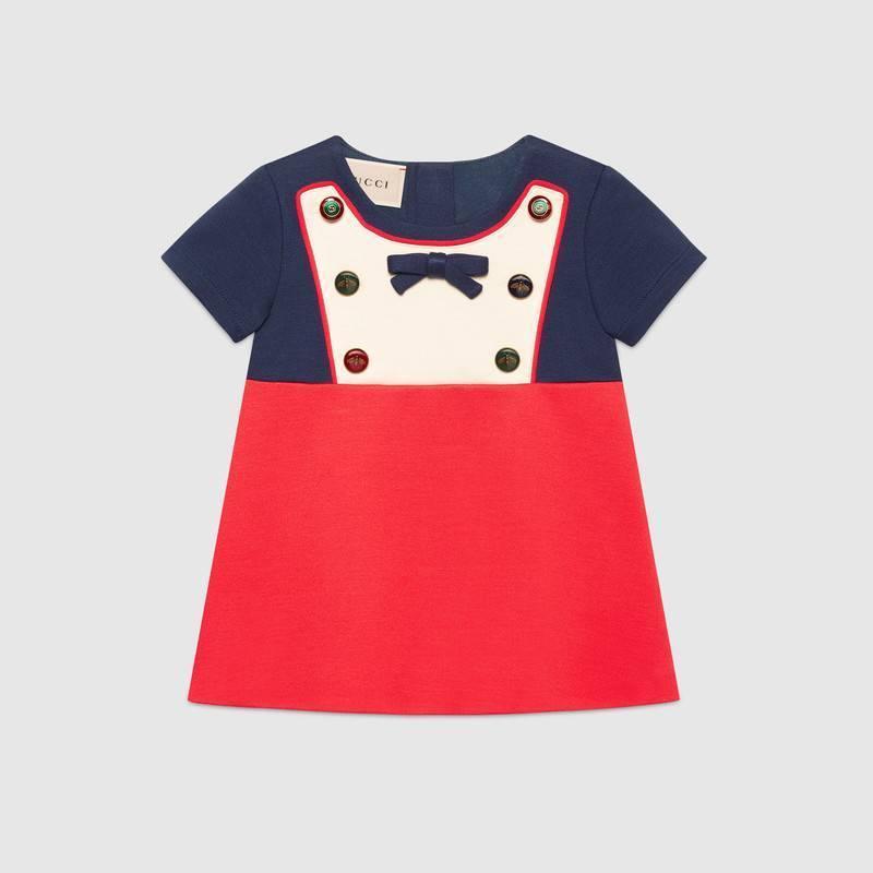 Gucci Baby Kleid aus Jersey - kindermoden-julia.com 35d7f5abfd