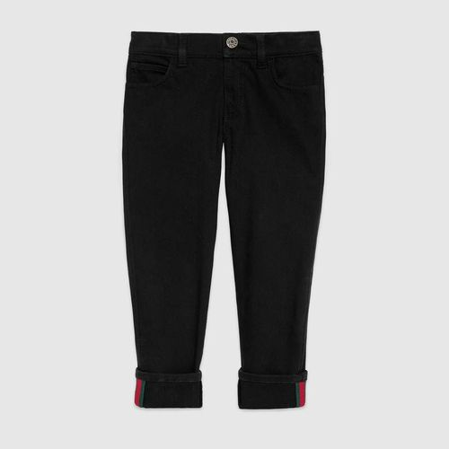 Gucci Kinder Hose aus Denim mit Web