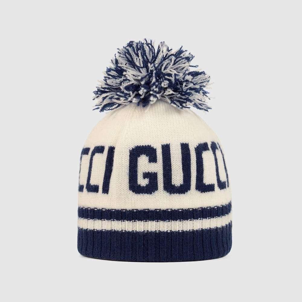 low priced 51114 68892 Gucci Kinder Mütze aus Gucci Wolljacquard